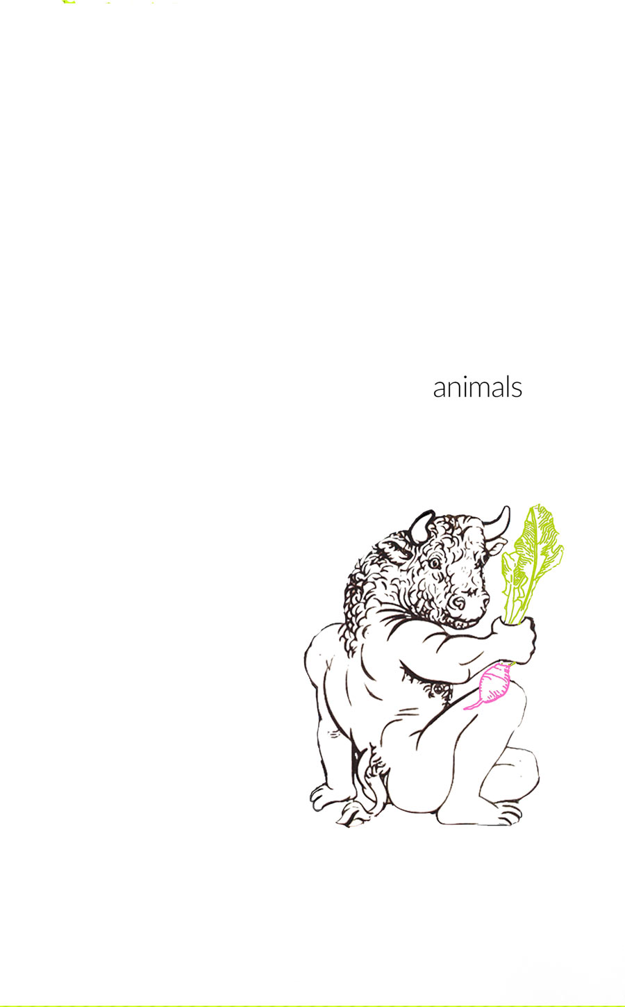"The Turnip Truck(s) ""Animals"" cover. Issue 3."