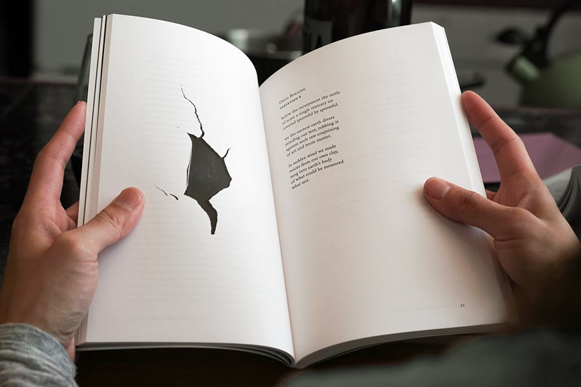 "Interior of The Turnip Truck(s) ""Destruction"" issue, featuring a poem by Doug Bolling."