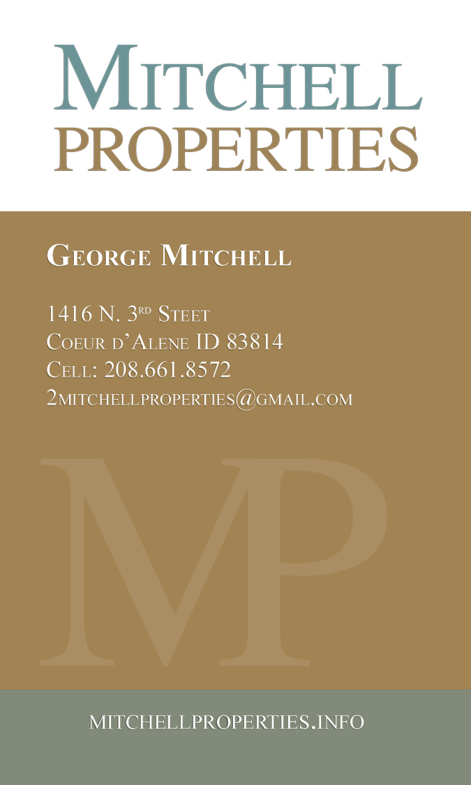 Mitchell Properties business card